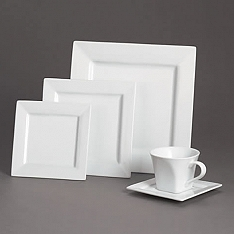 Square White Dinner Plates