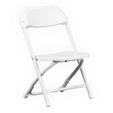 Kids White Plastic Folding Chair